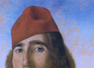 L'Uomo dal berretto rosso, tempera e olio su tavola, particolare. Museo Correr, Venezia