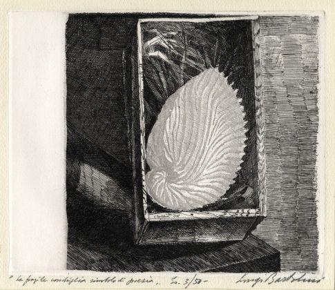 Luigi Bartolini,La fragile conchiglia,1936, acquaforte. Collezione Istituto Centrale della Grafica, Roma