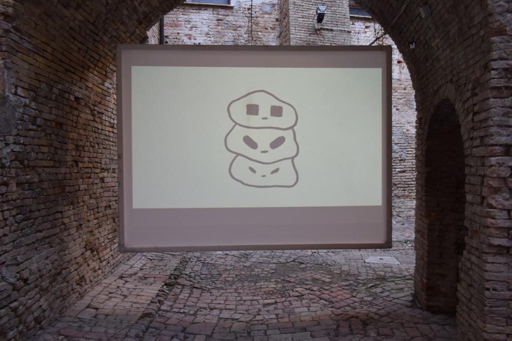 Maicol è Mirco. Exhibition view at Museolaboratorio Ex Manifattura Tabacchi, Città Sant'Angelo 2017