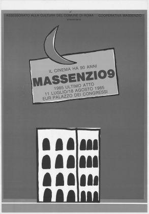 Manifesto della rassegna cinematografica Ultimo Atto, 1985. Sala Renato Nicolini presso Archivio Storico Capitolino