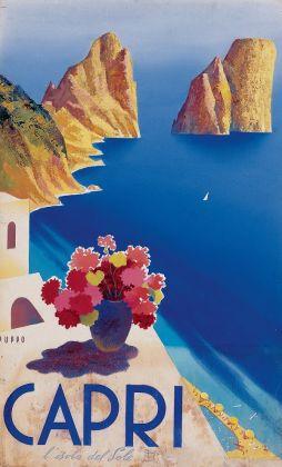 Mario Puppo, bozzetto per Capri l'isola del sole, 1954.