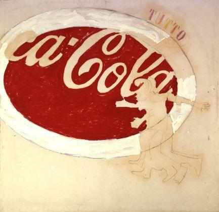 Mario Schifano, Coca cola (Tutto), 1972. Mart, Rovereto