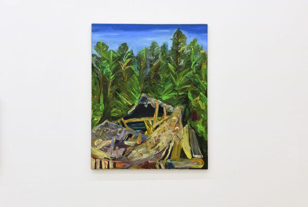 Matteo Fato, Senza titolo, (Somersault), 2015 -2017, olio su lino, 80 x 100 cm, photo Michele Alberto Sereni