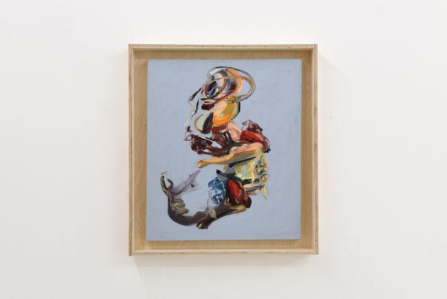 Matteo Fato, (Somersault), 2015-2017), olio su lino, 60 x 70 cm, cassa da trasporto in multistrato, photo Michele Alberto Sereni