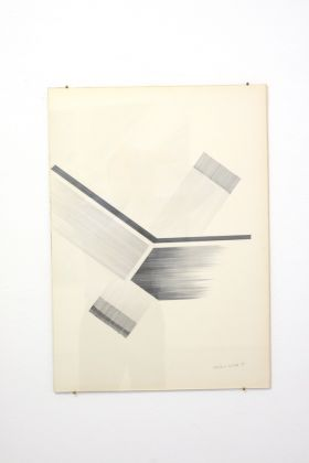 Natalino Tondo, Spazio di progettazione, 1969, matita su carta
