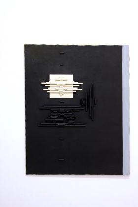 Natalino Tondo, Tensioni strutturate, 1966, tecnica mista su tela