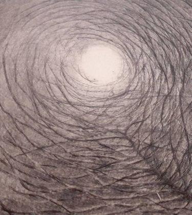 Patrizio Di Sciullo, Albero che abbraccia la luna, (particolare), 1995, acuquaforte e bulino su rame