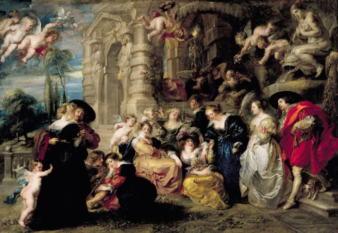 """Picture Shows: """"Garden of Love"""" by Peter Paul Rubens"""