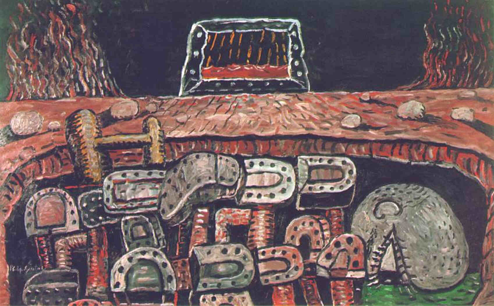 Philip Guston, The Pit, 1976. Courtesy McKee Gallery, New York © The Estate of Philip Guston