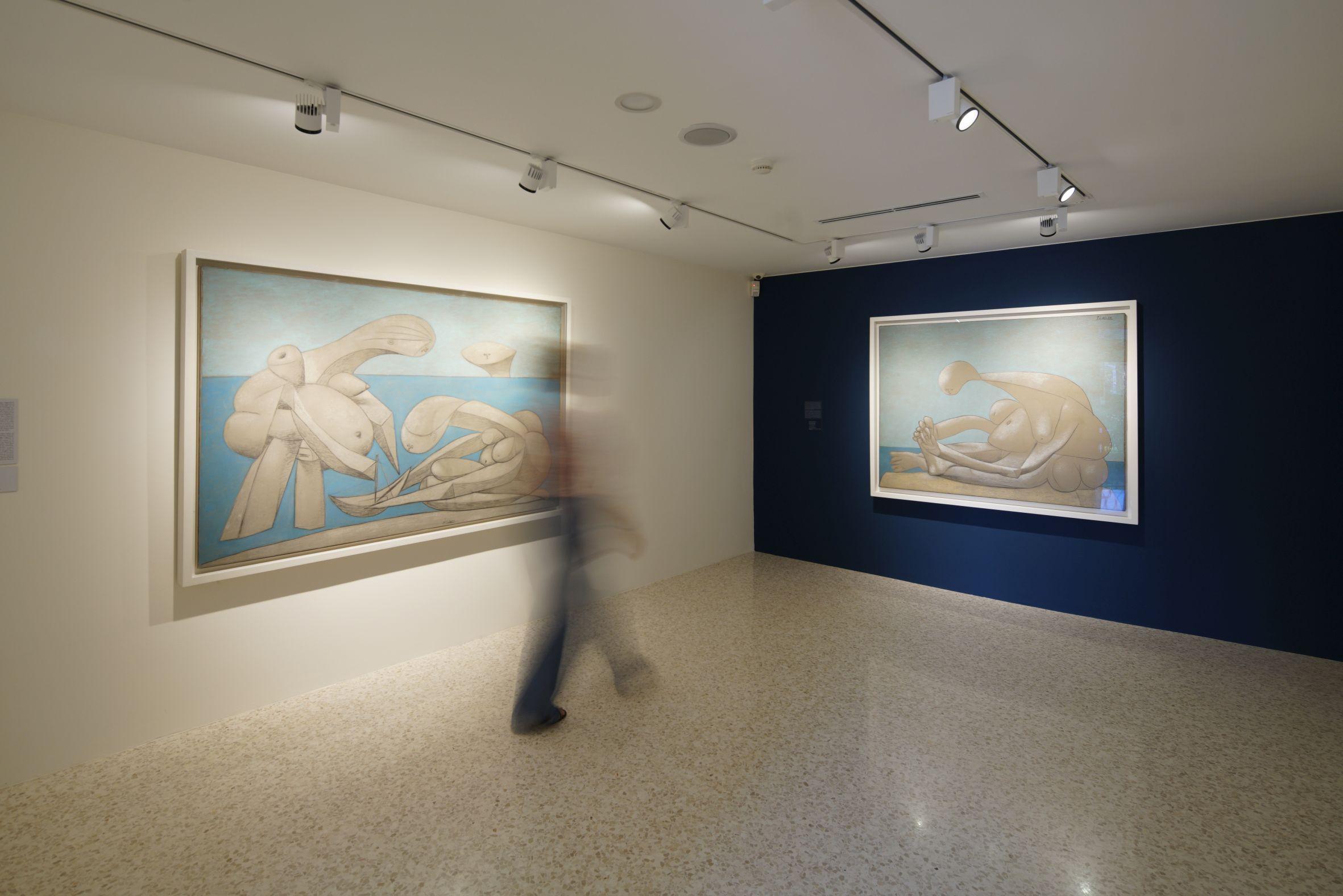 Picasso. Sulla spiaggia, exhibition view at Collezione Peggy Guggenheim, Venezia 2017, photo Matteo de Fina