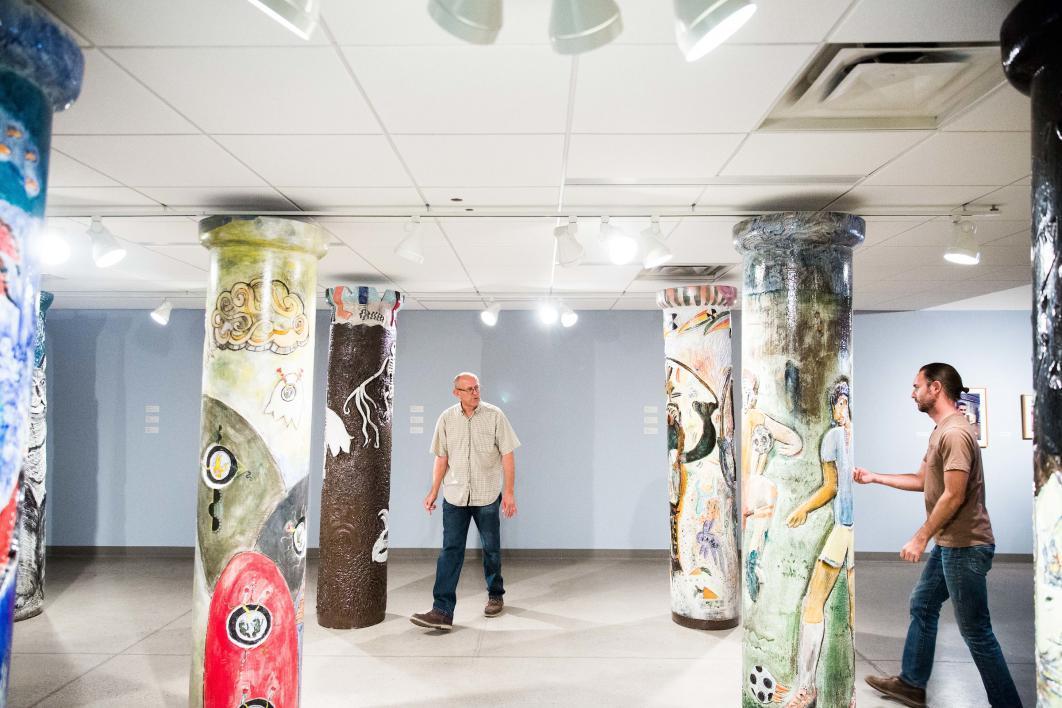 Pipe Brothers Tom and James Franco, ASU Art Museum Ceramics Research Center. Photo Deanna Dent ASU Now