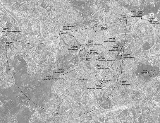 Planimetria d'insieme dei luoghi dell'Estate romana di Nicolini