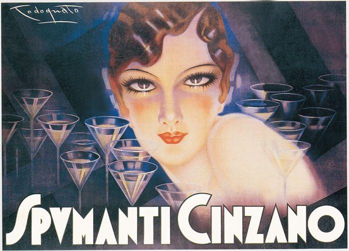 Plinio Codognato, Spumanti Cinzano, 1930. Galleria L'IMAGE, Alassio (SV)