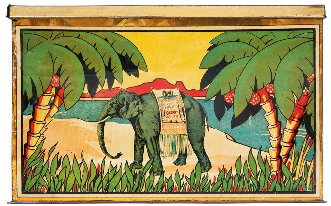 Scatole del Caffé Rossa (antenato del Lavazza qualità Rossa) fra fine Ottocento e inizio Novecento