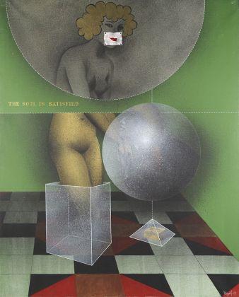 Sergio Fergola, Storia di Pigmalione, l'anima si appaga, 1975, olio su tela, 130 x 160. Ph. Fabrizio Stipari