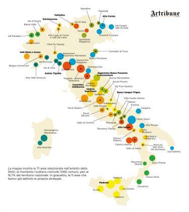 Spopolamento e aree interne. Dati SNAI. Grafica (c) Alessandro Naldi