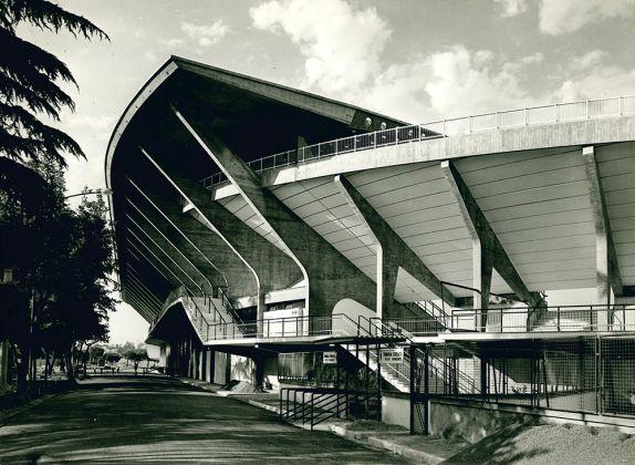 Stadio Flaminio (Pier Luigi Nervi e Antonio Nervi, 1959), Roma, Italia. Photo Oscar Savio. Courtesy Pier Luigi Nervi Project Association, Brussels