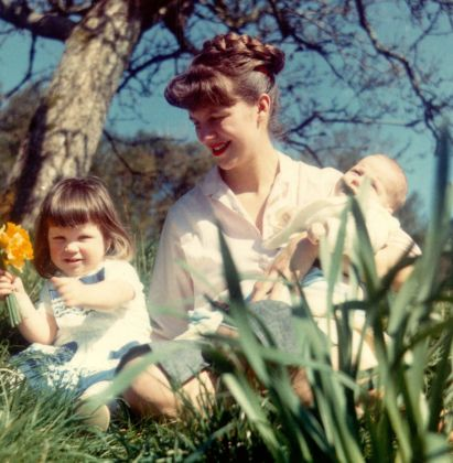 Sylvia Plath with her two children, Nicholas and Frieda, April 1962 Ph. Siv Arb Writer Pictures