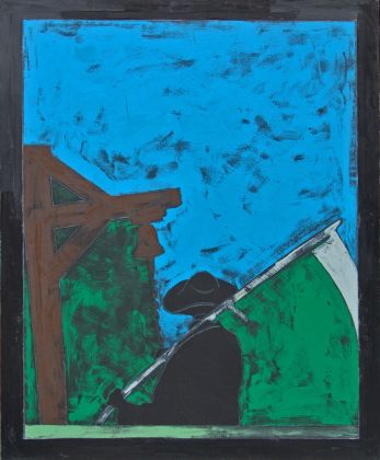 Tano Festa, Il falciatore, 1976