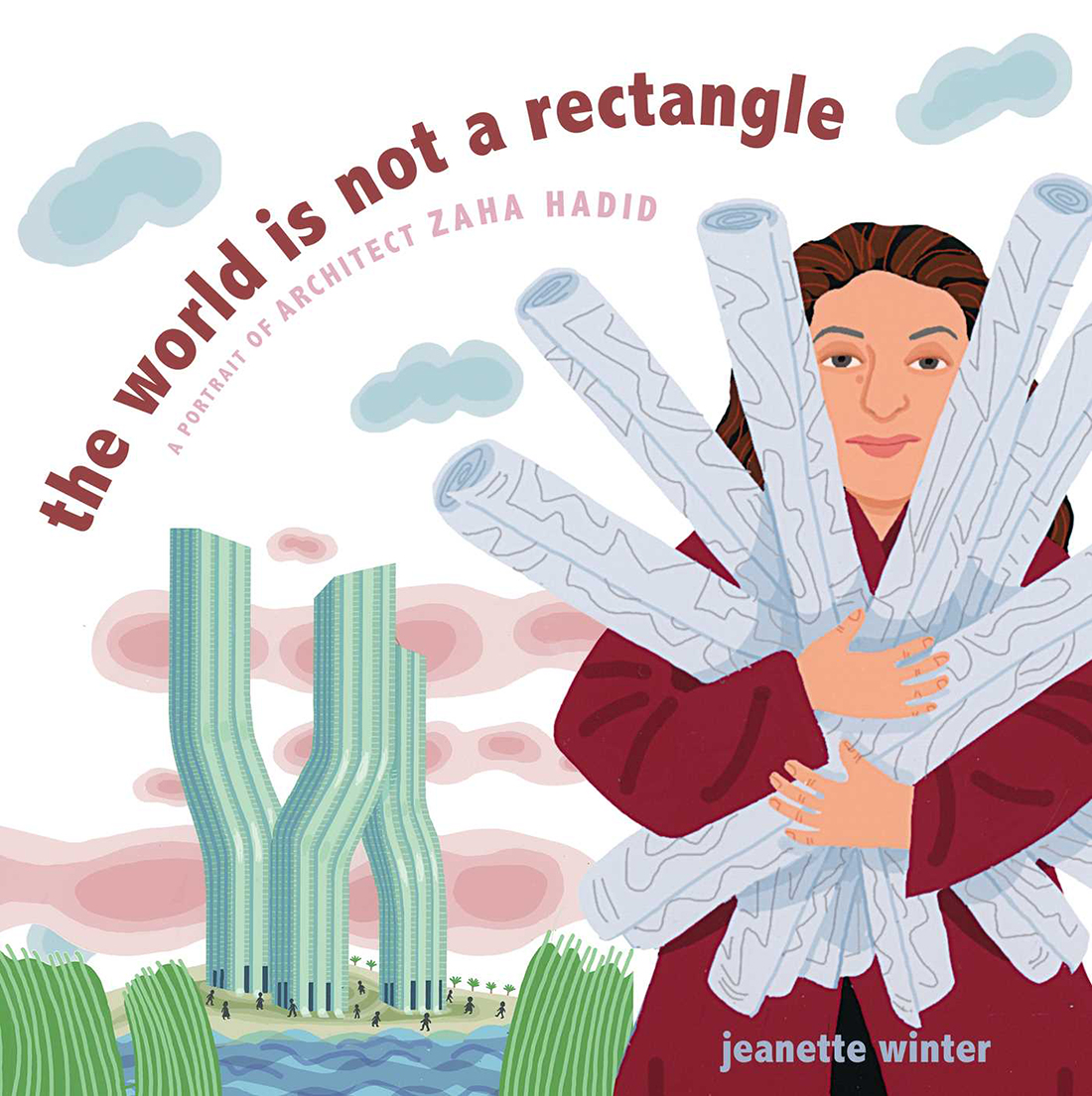 Jeanette Winter, The world is not a rectangle Zaha Hadid. Credit: S&S/Beach Lane Books