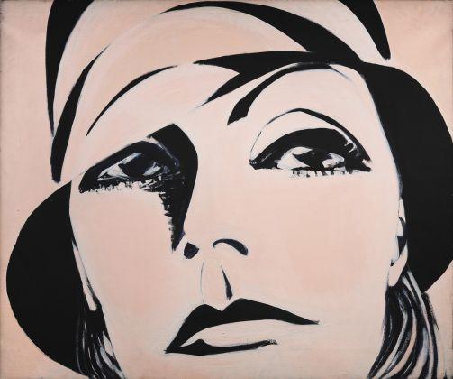 Titina Maselli, Greta Garbo, 1969, acrilico su tela, 100x130. Ph. Fabrizio Stipari