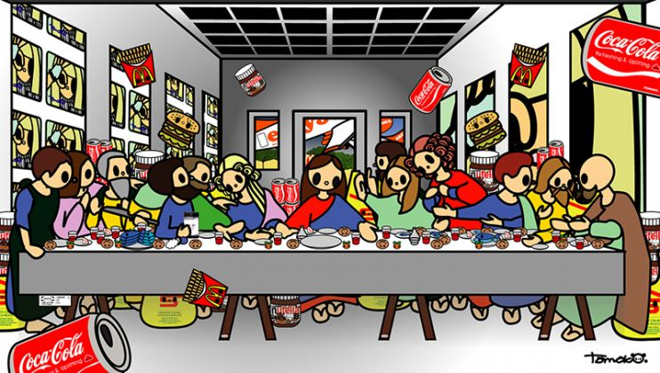 Tomoko Nagao, Leonardo da Vinci The Last Supper with MC, Easyjet, Coca Cola, Nutella, Esselunga, IKEA, Google and Lady Gaga, 2014