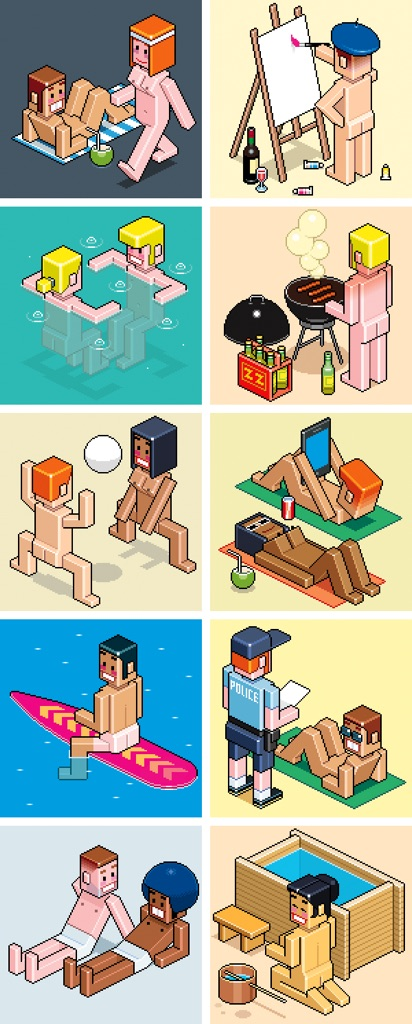 Totto Renna, Top Ten Nude Beaches on the Planet per Men's Health Magazine, USA, 2014