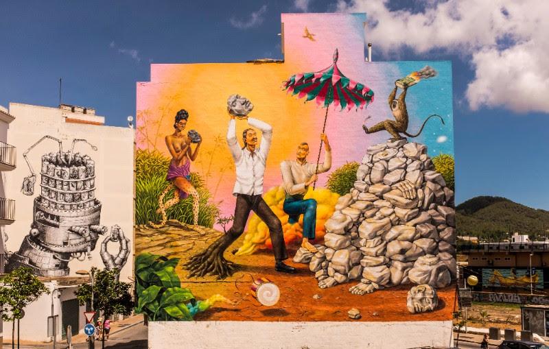 Un murale di Aec per BLOOP International Proactive Art Festival