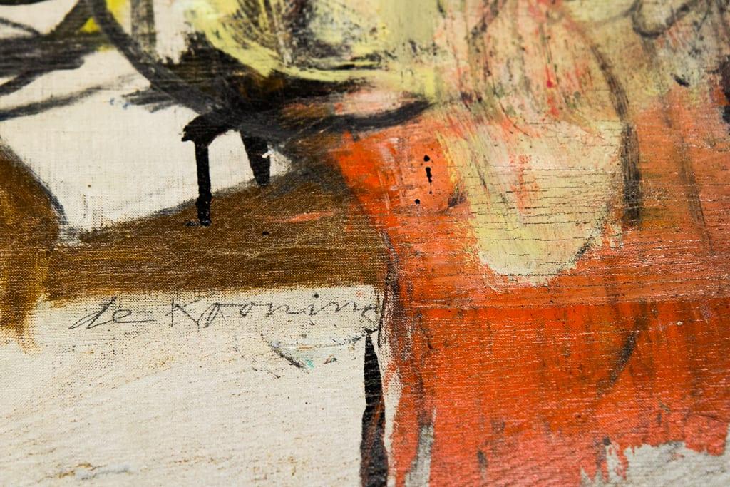 Willem de Kooning, Woman (Ochre), dettaglio