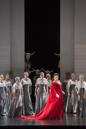 Giuseppe Verdi/Aida/ Premiere 6.agosto 2017/Riccardo Muti: direzione d'orchestra, Shirin Neshat:Regia, Anna Netrebko:Aida © Salzburger Festspiele / Monika Rittershaus
