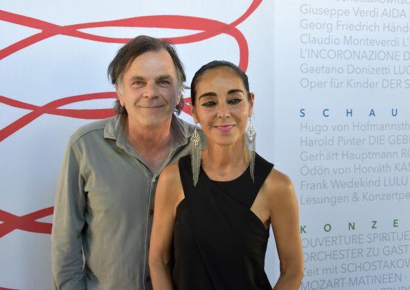 Shirin Neshat con il pianista Markus Hinterhaeuser