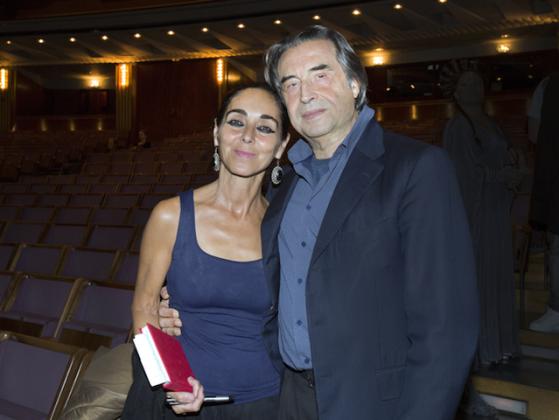 Shirin Neshat con Riccardo Muti