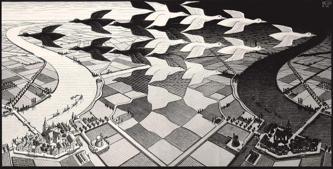 Un'opera di Escher