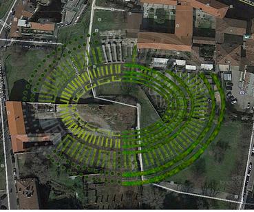 Amphitheatrum naturae, pianta ph. Soprintendenza archeologica delle belle arti e del paesaggio