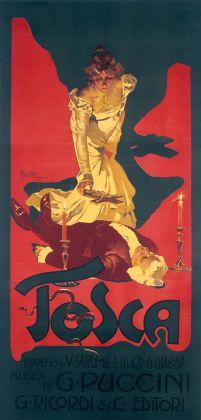 Adolf Hohenstein, Tosca, 1899. Galleria L'Image, Alassio