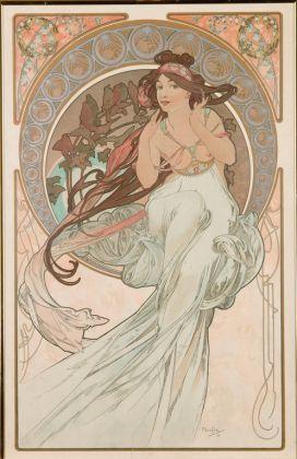 Alfons Mucha, Les Arts. Musique, Danse, Poesie, Peinture, 1898
