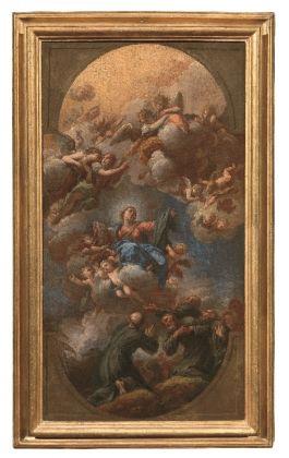 Anton Domenico Gabbiani, La Vergine consegna l'abito ai sette fondatori dell'ordine dei Servi di Maria, 1718, bozzetto
