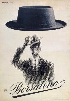 Armando Testa, Borsalino, 1954, litografia