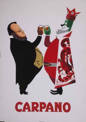 Armando Testa, Carpano, bozzetto per manifesto (serie brindisi Cavour), 1949