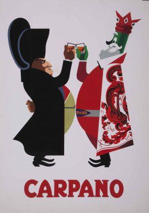 Armando Testa, Carpano, bozzetto per manifesto (serie brindisi Napoleone), 1949. CSAC, Parma