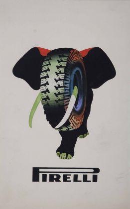 Armando Testa, Pirelli, bozzetto per manifesto (elefante), 1954