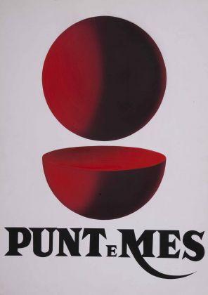 Armando Testa, Punt e Mes, bozzetto per manifesto, 1960