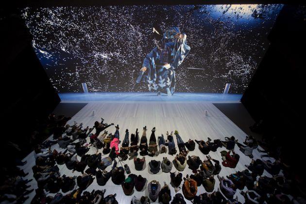 Ars Electronica 2017. Mansai Nomura & Daito Manabe & NHK, Sanbaso. Photo Florian Voggeneder