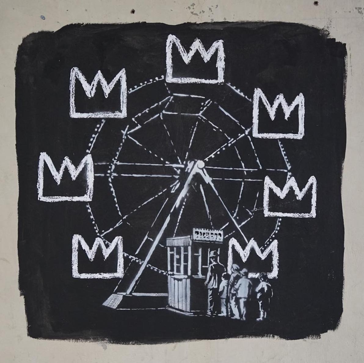 Banksy omaggia Jean Michel Basquiat