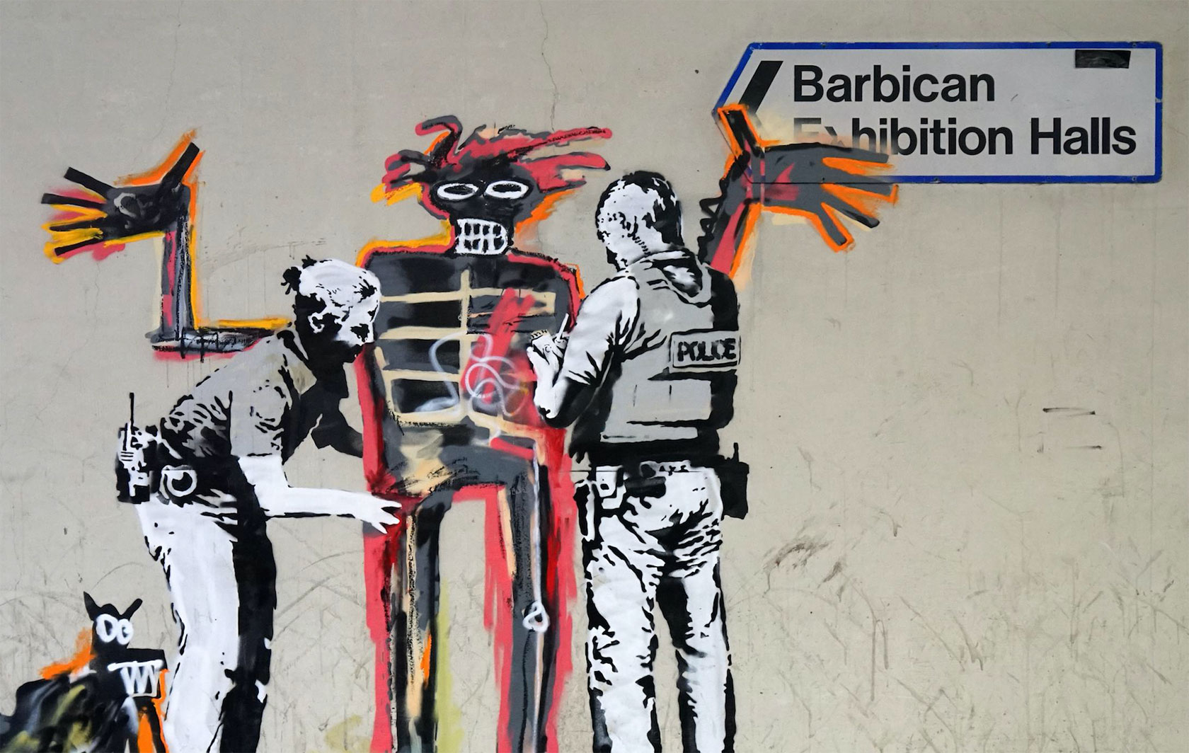 L'omaggio di Banksy a Jean-Michel Basquiat. Due nuovi muri a Londra