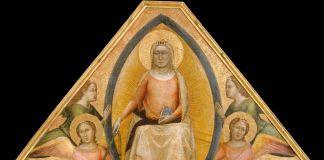 Bernardo Daddi, Assunta dalla Pala dell'Assunta (cuspide), 1337-38. New York, The Metropolitan Museum of Art, Robert Lehman Collection