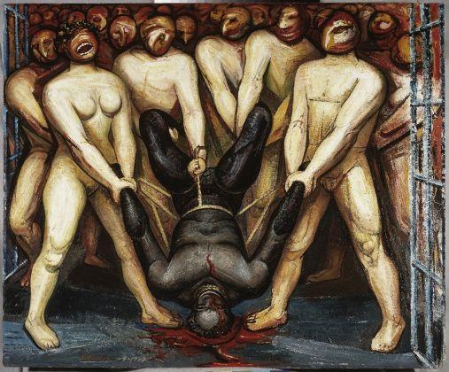 David Alfaro Siqueiros, Cain en los estados unidos, 1947, Piroxilina sobre madera comprimida, Museo de Ar