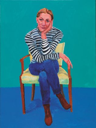 David Hockney, Edith Devaney, 11th, 12th, 13th February 2016, acrilico su tela, 121,9 x 91,4 cm © David Hockney, photo credit Richard Schmidt