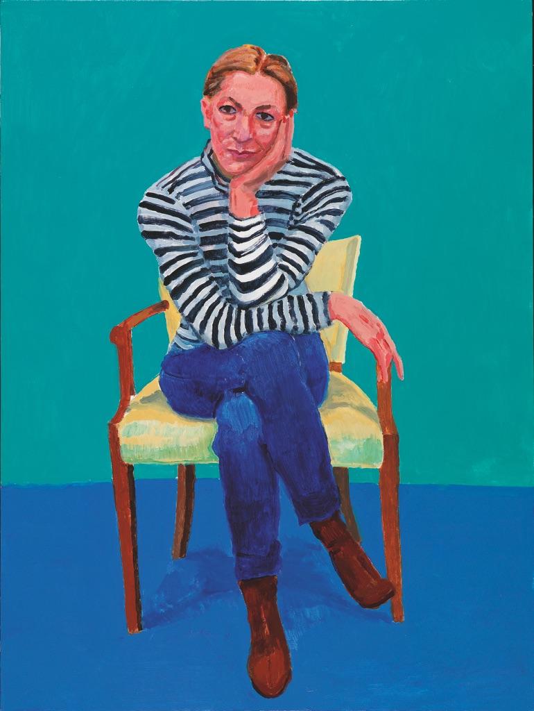 David Hockney, Edith Devaney, 11th, 12th, 13th February 2016, acrilico su tela, 121,9 x 91,4 cm © David Hockney, photo credit Richard Schmidt