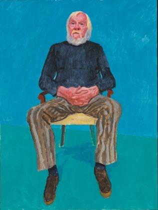 David Hockney, John Baldessari, 13th, 16th December 2013, acrilico su tela, 121,9 x 91,4 cm © David Hockney, photo credit Richard Schmidt